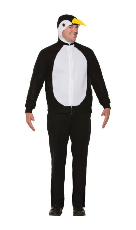 Adults Penguin Hoodie Costume Unisex Artic Animal Sea Bird Fancy Dress Outfit